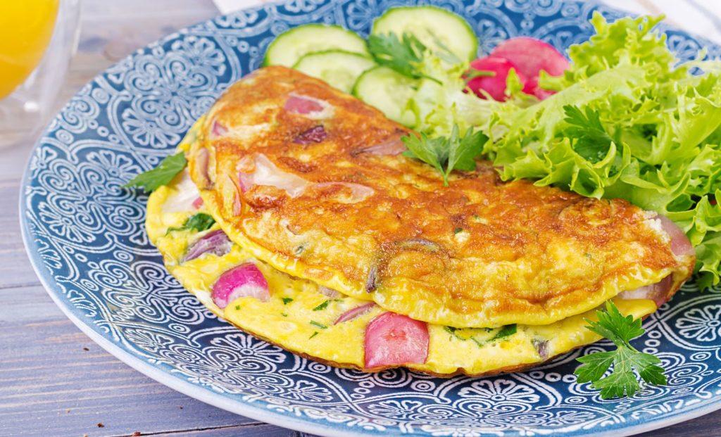 Deixa a omelete mais fofa